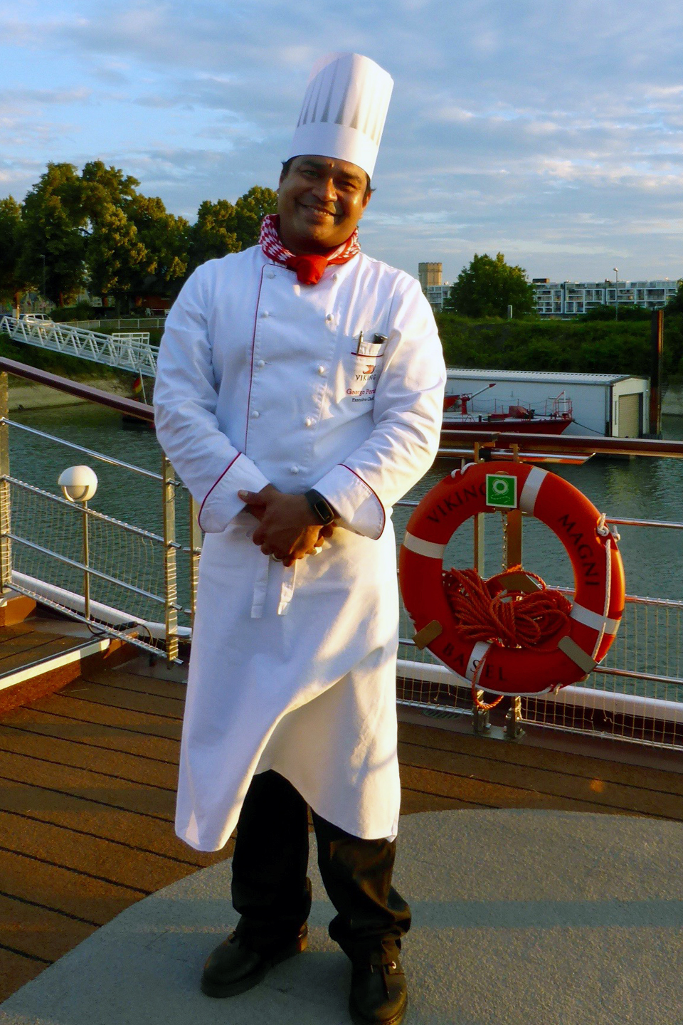 chef, A Taste of Germany night aboard the Viking Magni
