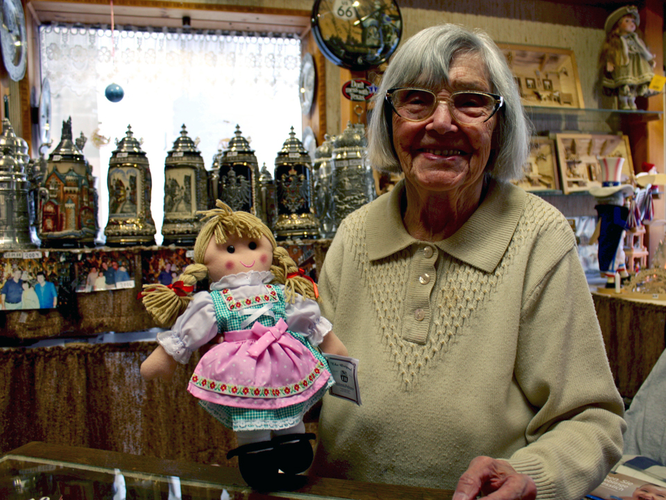 We found a doll for our granddaughter and conversation with Annalise herself at Annelise Friese's shop at 7-8 Grüner Markt.