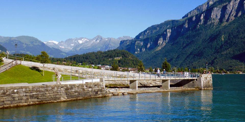lakeside promenade, Brienz, Switzerland