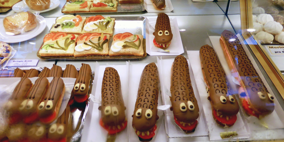 tatzelwurm cakes, Meiringen, Switzerland