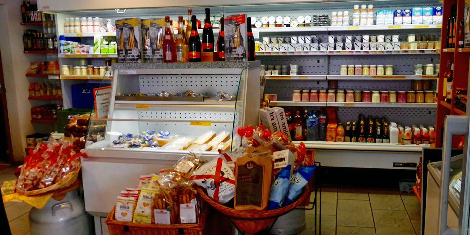 Molkerei, the dairy shop in Meiringen, Switzerland