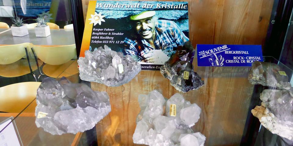 crystal display at the Panorama Restaurant, Planplatten, Switzerland