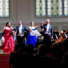 Costumed vocalists at a Mozart and Strauss concert by the Vienna Residence Orchestra.