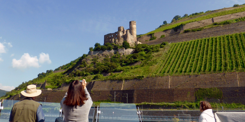 Castle of the Rhine from our Viking River Cruises longship