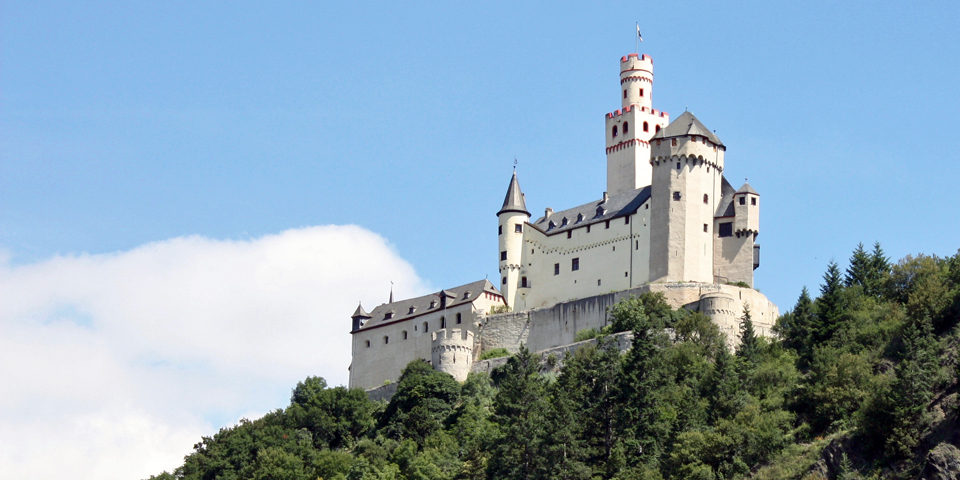 Marksburg Castle, Germany from our Viking River longship