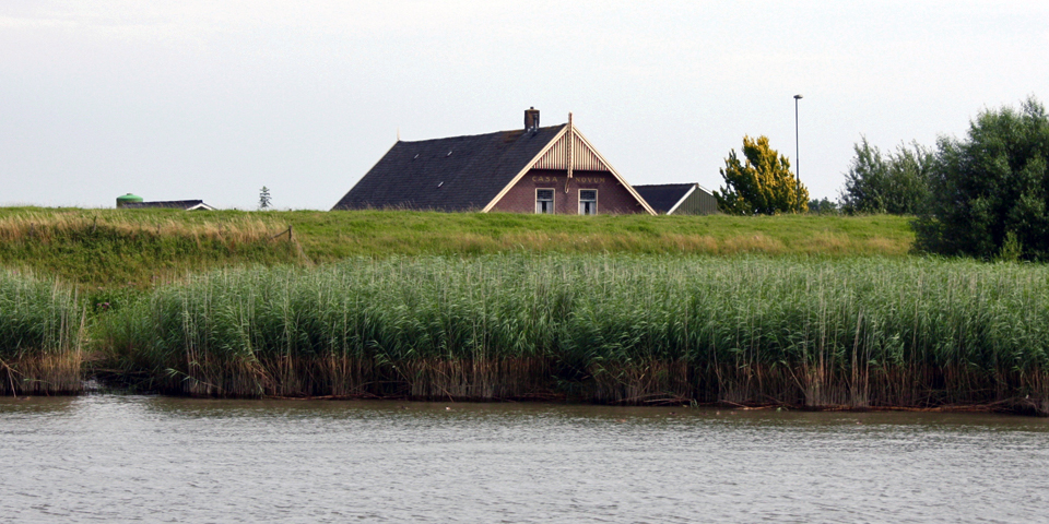 House below water level in the Netherlands