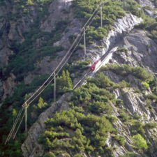 Ride the Gelmerbahn funicular in Handegg for a hike around the Gelmersee lake.