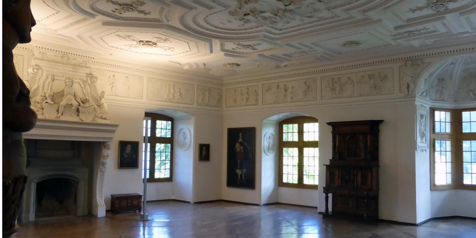 Baroque ballroom built in 1614, Spiez Castle