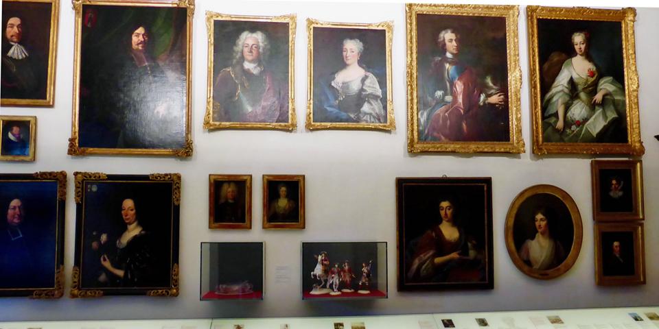 von Erlach family portraits, Spiez Castle