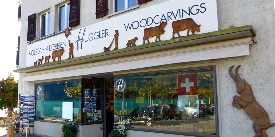Huggler wood carving shop, Brienz