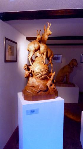 fine wood carving in Brienz, Switzerland