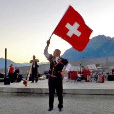 flag thrower, Brienz Folk Concert, Brienz, Switzerland