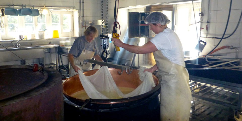 cheese making at Alpkäserei Handegg, Switzerland