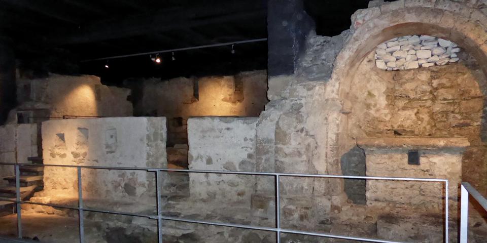 ruins below St. Michael's Church, Meiningen, Switzerland