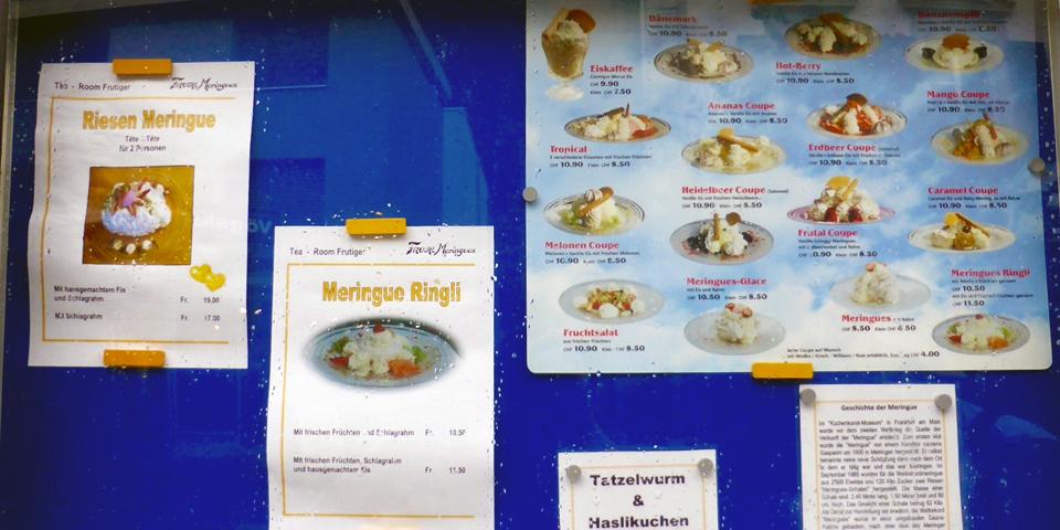 meringue confections, Meiringen, Switzerland