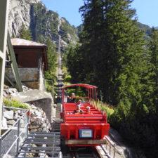The Gelmerbahn funicular in Handegg is the steepest in Switzerland.