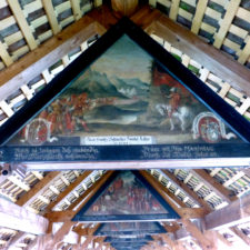 paintings in Chapel Bridge, Lucerne, Switzerland