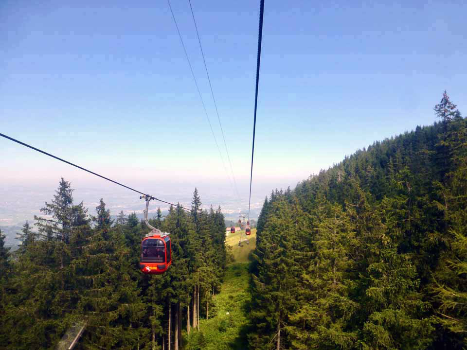 cable car ride from Mt. Pilatus