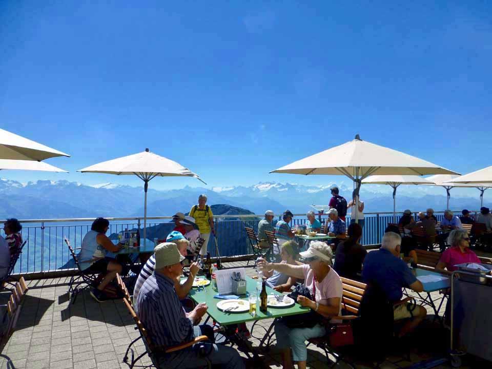 outdoor dining, Mt. Pilatus