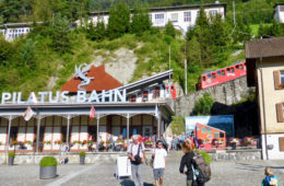 Mt. Pilatus: a voyage on a boat, train, cable cars and a bus