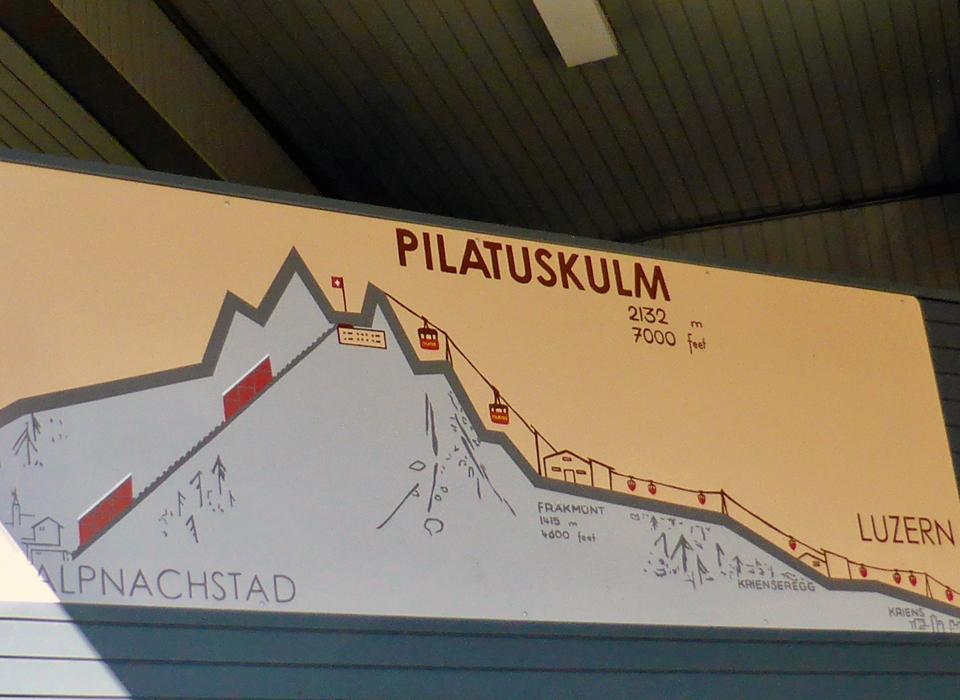 round trip to Mount Pilatus , Lucerne, Switzerland