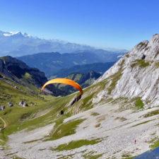 paragliders, Mt. Pilatus