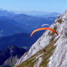 paragliders, Mt. Pilatus, Switzerland