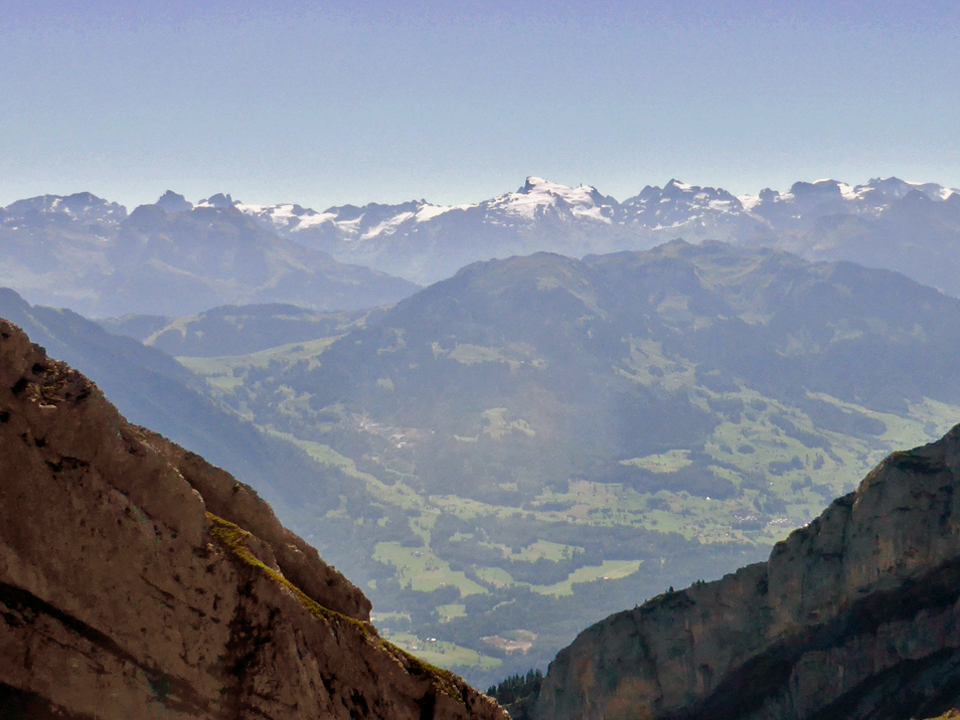 view from the summit of Mt. Pilatus