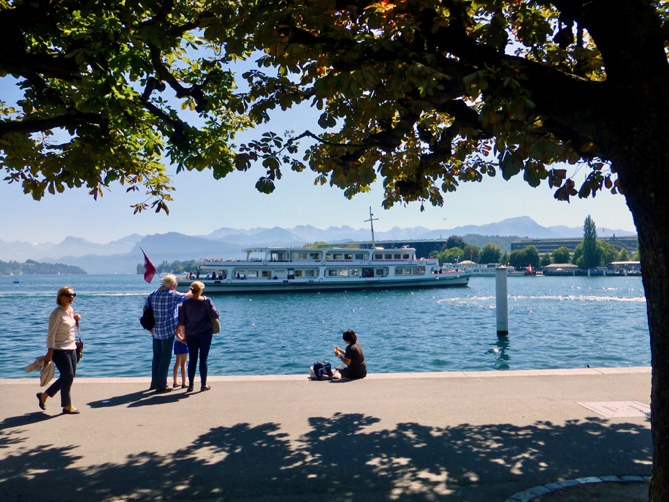 promenade, Lucerne, Switzerland