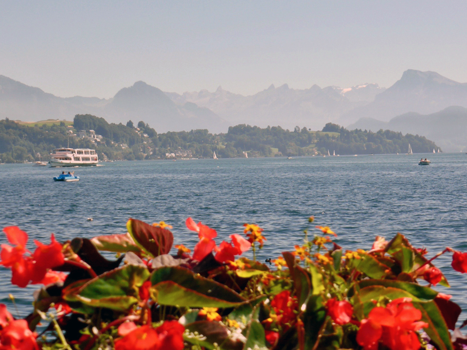 view from bridge, Lucerne