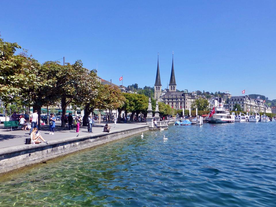 lakefront promenade, Lucerne