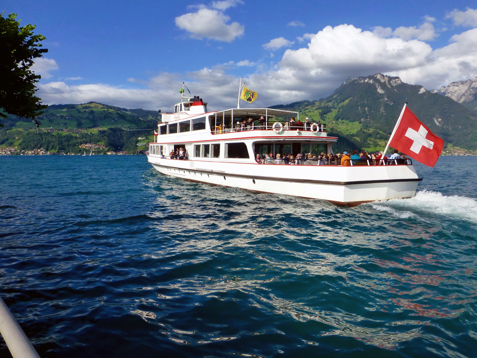 Boat from Spietz on Lake Thun