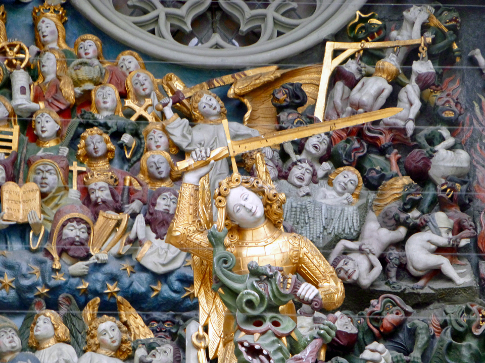 detail of entrance, Bern Cathedral, Bern, Switzerland