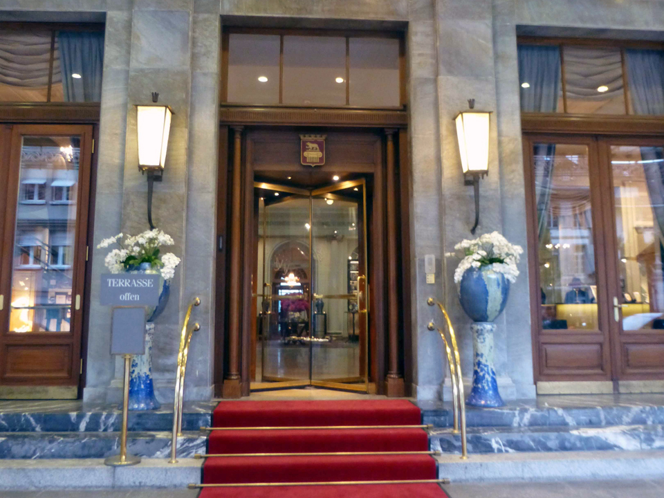 entrance to Bellevue Hotel, Bern, Switzerland