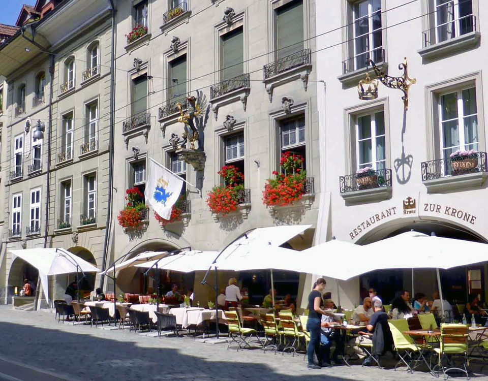 guild houses and cafés, Bern, Switzerland