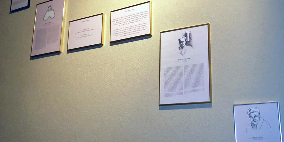 a portion of the Dada exhibit at the Hotel Ambassadorr à l'Opera Zurich