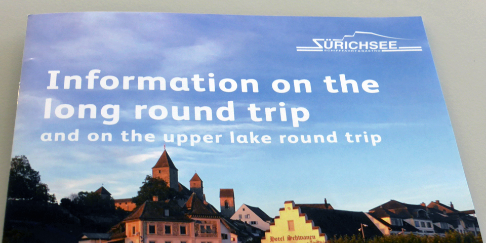 4 hour Lake Zurich round trip tour brochure