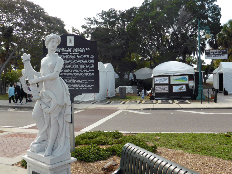 St. Armand's Circle Art Festival, Sarasota, Florida