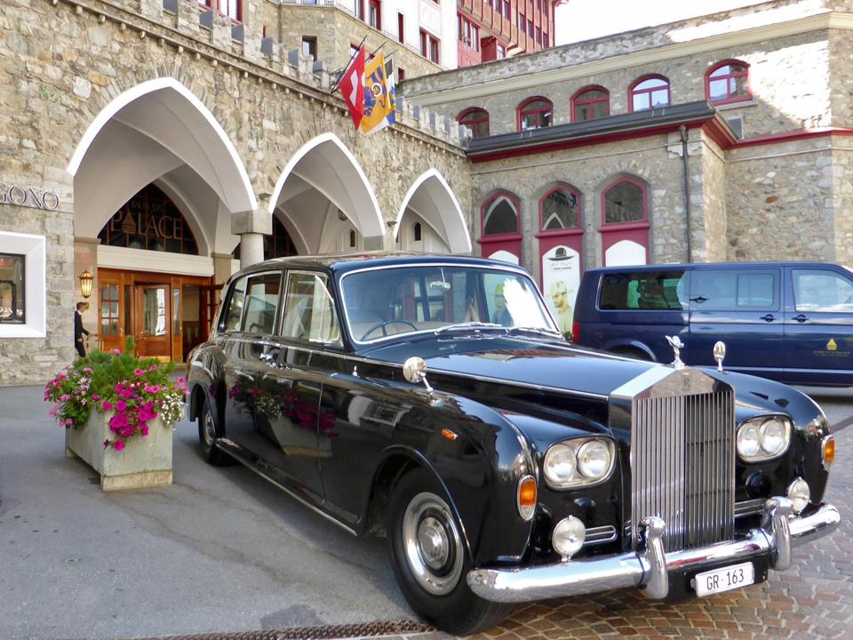 limousine, Badrutt's Palace, St. Moritz