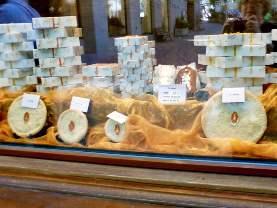 Nusstorte shop, St. Moritz, Switzerland