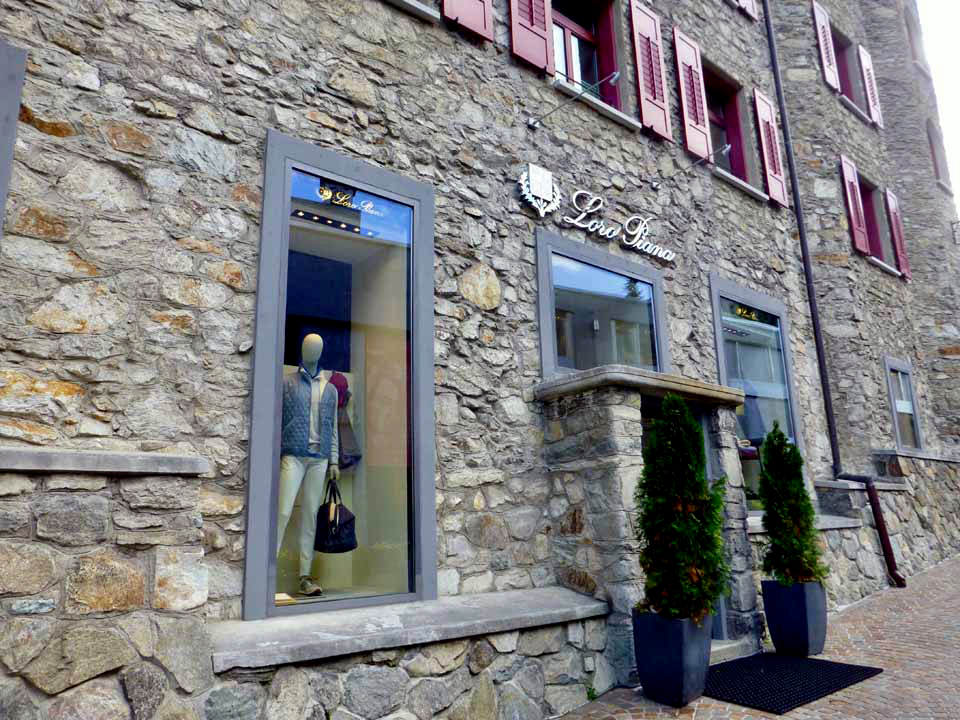 a shop along Via Serlas, St. Moritz