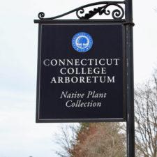 Connecticut College Arboretun sign, New London, Connecticut