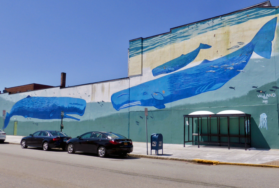 whale mural, New London, Connecticut