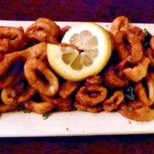calamari appetizer, Tony D's, New London, Connecticut
