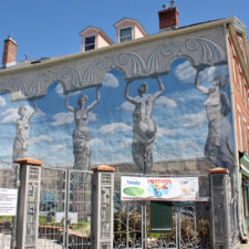 mural on Hygienic Art building, New London, Connecticut