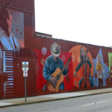 mural of musicians, New London, Connecticut
