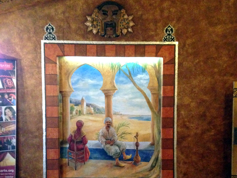 mural, lobby of Garde Arts Center, New London, Connecticut