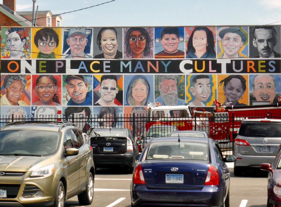 diversity mural, New London, Connecticut