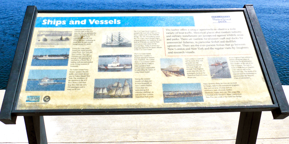 Ships and vessels on the Thames, New London, Connecticut
