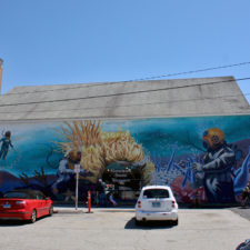 scuba mural, New London, Connecticut